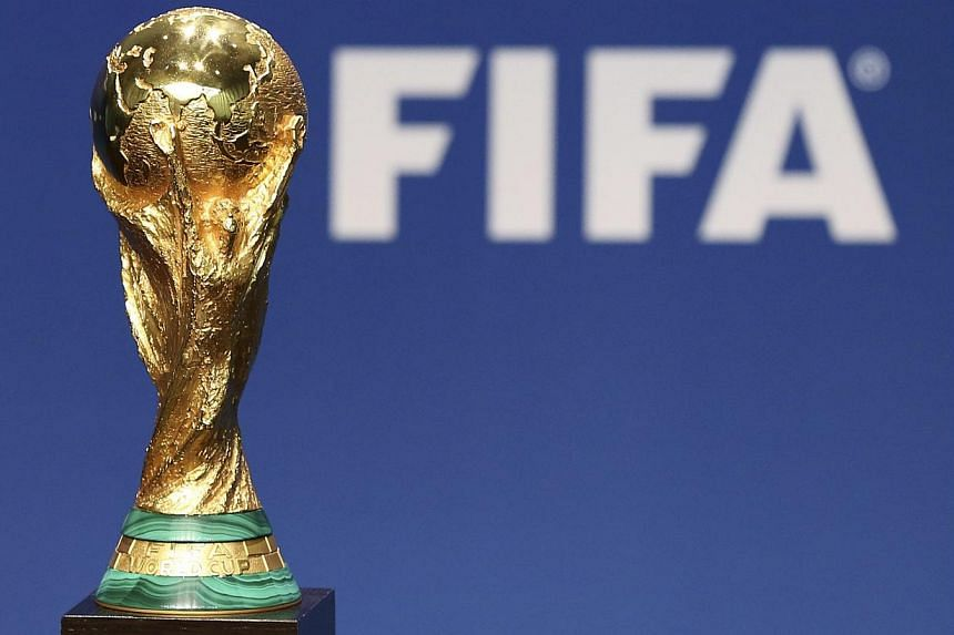 A replica of the Fifa Soccer World Cup Trophy is pictured at the Fifa headquarters in Zurich on Jan 23, 2014. Brazil and Fifa on Thursday played down concern about sluggish World Cup preparations, with President Dilma Rousseff insisting sta