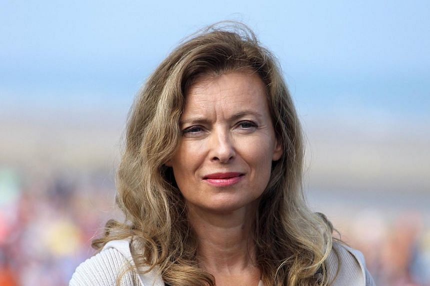 A photo taken on Aug 28, 2013 shows French President Hollande's partner Valerie Trierweiler standing in Cabourg northwestern France.French First Lady Valerie Trierweiler is travelling Sunday, Jan 26, 2014, to India in support of a charity effor