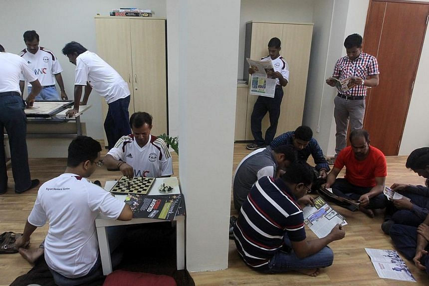 Migrant Workers Centre opens new HQ in 579 Serangoon Rd on Jan 26, 2014.A foreign workers' advocate group backed by the labour movement has set up its first emergency shelter. -- PHOTO:ZAOBAO