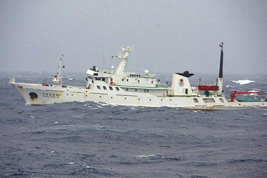 A Chinese patrol vessel in shown in this photo taken on January 27, 2011. -- FILE PHOTO: REUTERS