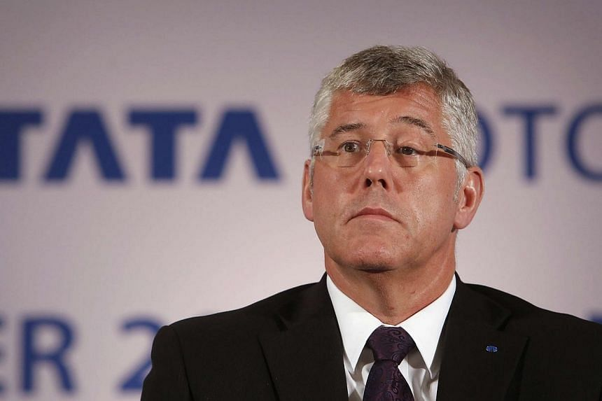 Karl Slym, managing director of Tata Motors, looks on during a news conference to announce their second quarter results in Mumbai on Nov 8, 2013.India's Tata Motors said on Sunday that managing director Karl Slym has died in Bangkok after a fal
