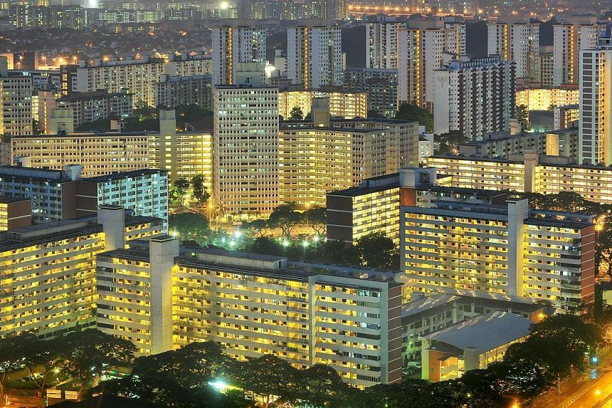 A view of the Toa Payoh housing estate taken at night on Oct 3, 2009. Nearly 2,400 blocks of Housing Board flats have been upgraded since 1995 to support the higher electricity consumption of modern lifestyles, said Minister for National Development