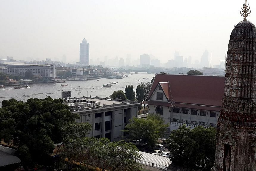The view of Bangkok from the second level of the Wat Arun temple. -- ST PHOTO: NIRMAL GHOSH