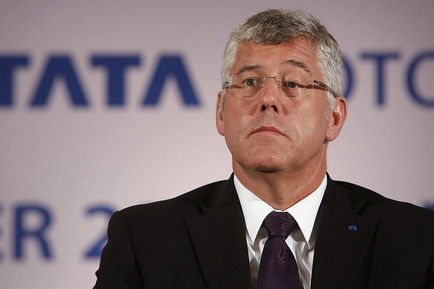 Mr Karl Slym, managing director of Tata Motors, looks on during a news conference to announce their second quarter results in Mumbai in this November 8, 2013 file photo. Mr Slym was found dead on Jan 26, 2014 in a hotel in Bangkok, where he was atten