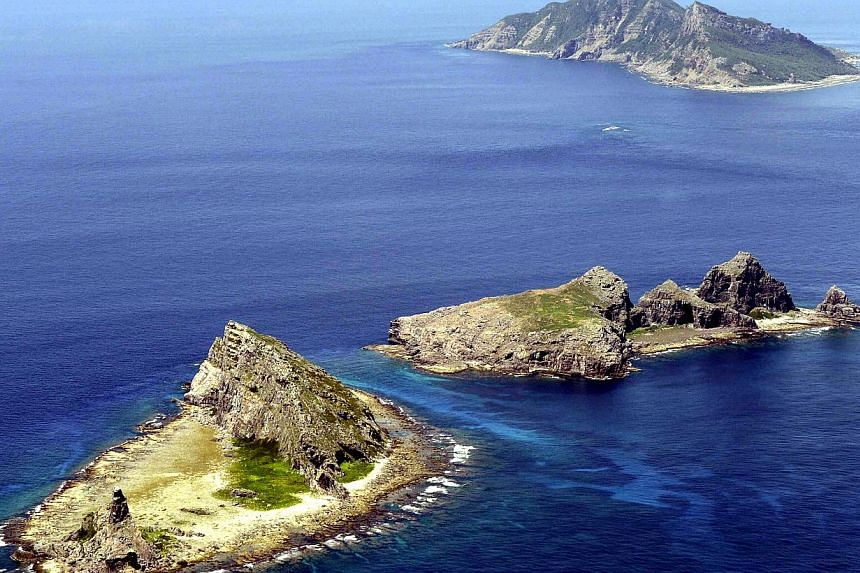 A group of disputed islands, known as Senkaku in Japan and Diaoyu in China is seen in the East China Sea, in this photo taken by Kyodo September 2012. South Korea has lodged a strong protest against Japanese decision to teach children that islands at