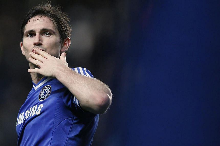 Chelsea's Frank Lampard acknowledges the crowd following their FA Cup soccer match against Stoke City at Stamford Bridge in London on Jan 26, 2014.Lampard believes there is a growing self-belief within the Chelsea squad ahead of their London de