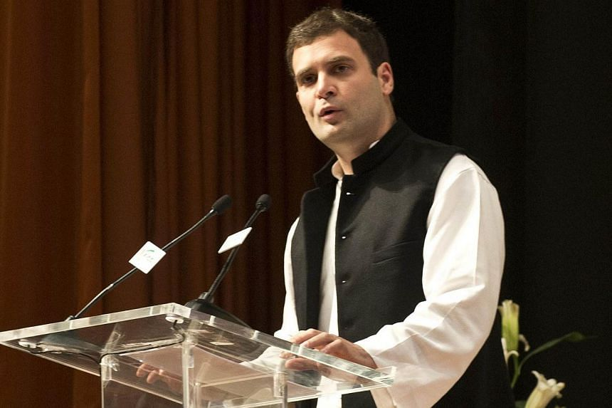 In this photograph taken on Dec 21, 2013, Indian National Congress (INC) Vice President Rahul Gandhi addresses the Federation of Indian Chambers of Commerce and Industry (FICCI)'s 86th Annual General Meeting in New Delhi. Rahul Gandhi's first full-le