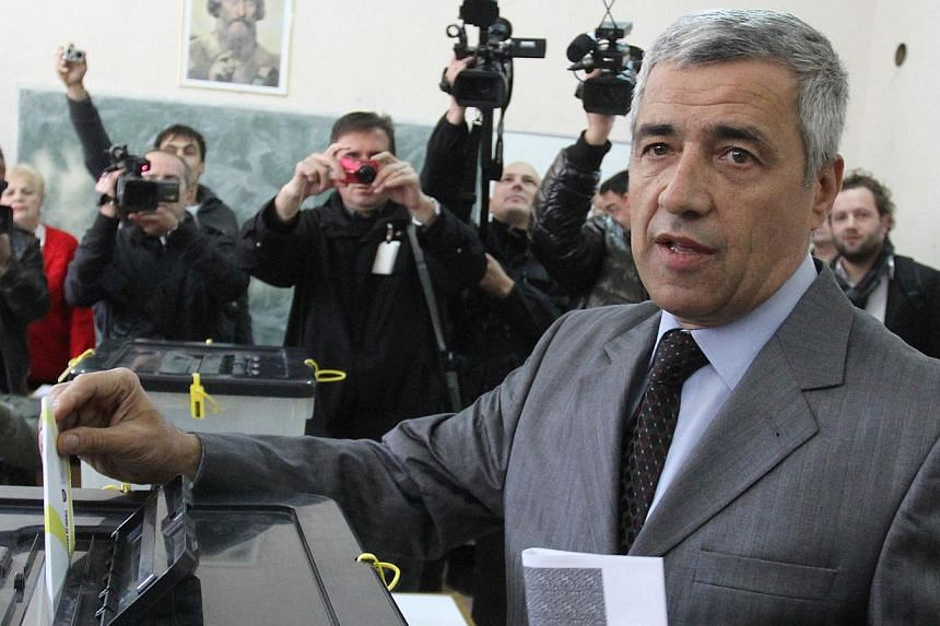 Mr Oliver Ivanovic, one of the main political leaders of Serbs in northern Kosovo, as he casts his ballot during local elections in Kosovska Mitrovicaon Nov 3, 2013. MrIvanovic, was taken in for questioning on Monday, Jan 27, 2014, on sus
