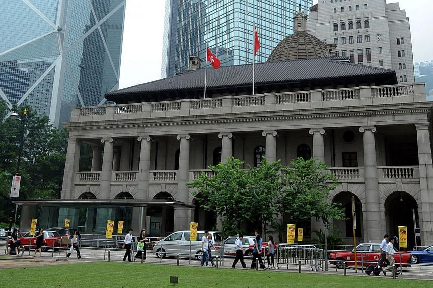 File picture of the Legislative Council (LegCo) building in the Central district of Hong Kong taken on July 18, 2011 -- FILE PHOTO: AFP