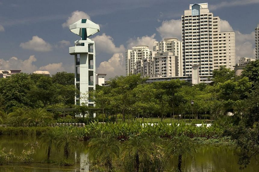 The lookout tower at Toa Payoh Town Park on Oct 2, 2008. The National Heritage Board (NHB) has launched a documentation project of four lookout towers in Singapore built in the 1960s and 1970s. -- FILE PHOTO: URBAN REDEVELOPMENT AUTHOR