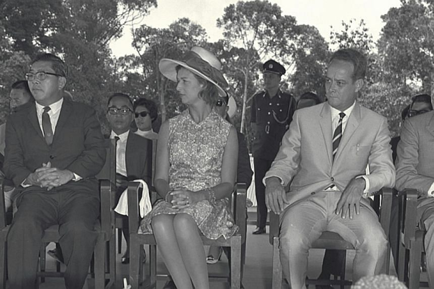 Princess Alexandra, cousin of Queen Elizabethat the opening of Seletar Reservoir on Aug 10, 1969. -- ST FILE PHOTO: HAN HAI FONG
