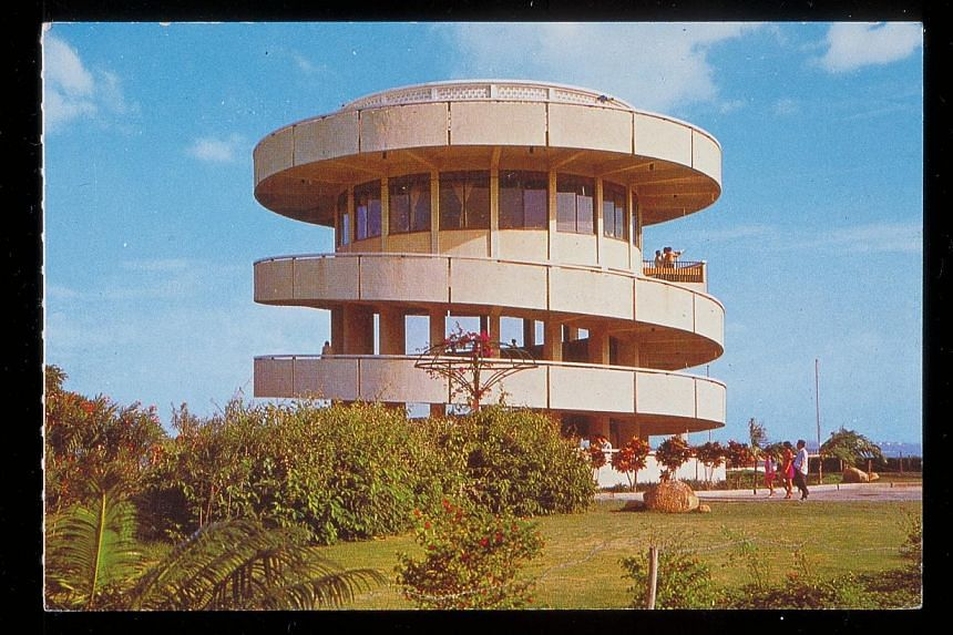 A three-storey spiral tower overlooking Jurong's portside, located at Jurong Hill off Jalan Ahmad Ibrahim. -- PHOTO: NATIONAL HERITAGE BOARD