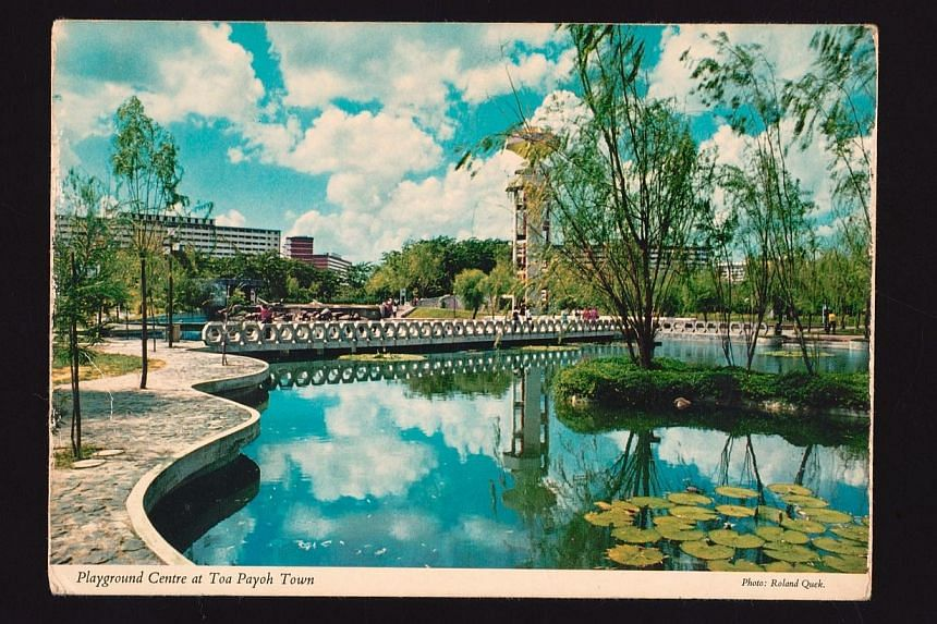 A vintage postcard of Toa Payoh Gardens. -- PHOTO: NATIONAL HERITAGE BOARD