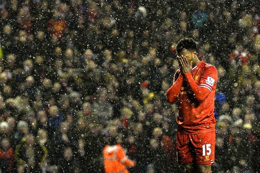 Liverpool's Daniel Sturridge missed a penalty but his earlierbrace handed Liverpool the Merseyside bragging rights with a 4-0 victory over Everton in the Premier League on Tuesday, Jan 28, 2014, that maintained their Anfield derby dominance.&nb