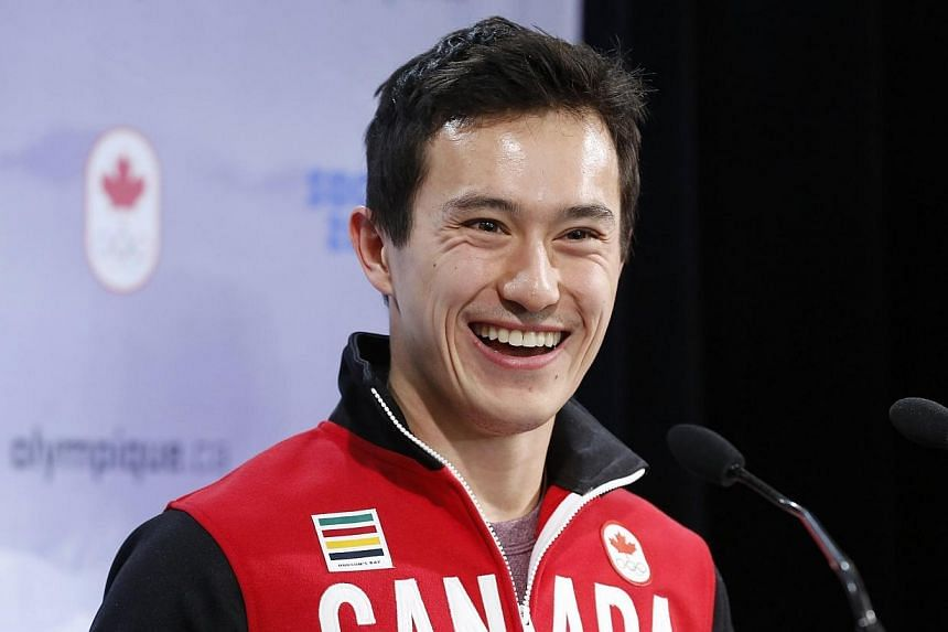 Patrick Chan speaks during a news conference after being named to Canada's Olympic team at the Canadian Figure Skating Championships in Ottawa, on Jan 12, 2014.-- FILE PHOTO: REUTERS