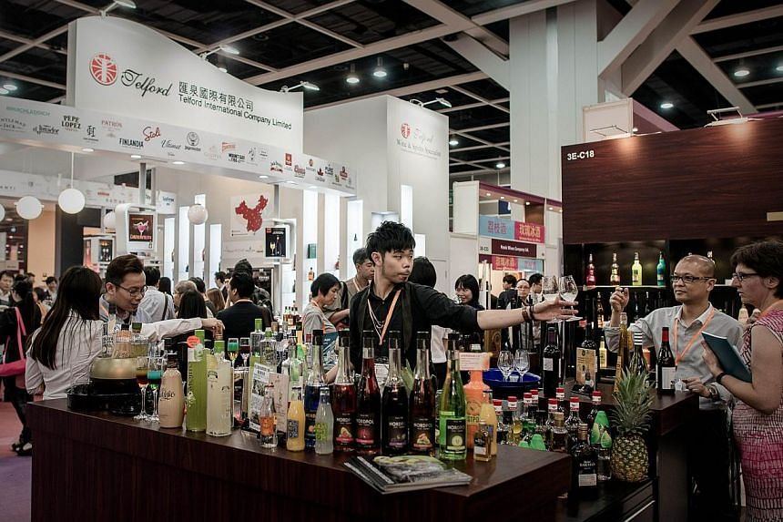 Photo of the sixth International Wine and Spirits Fair in Hong Kong last year. Wines from Spain and the new world are gaining ground in China at the expense of their French counterparts, as increasingly adventurous Chinese wine enthusiasts push back