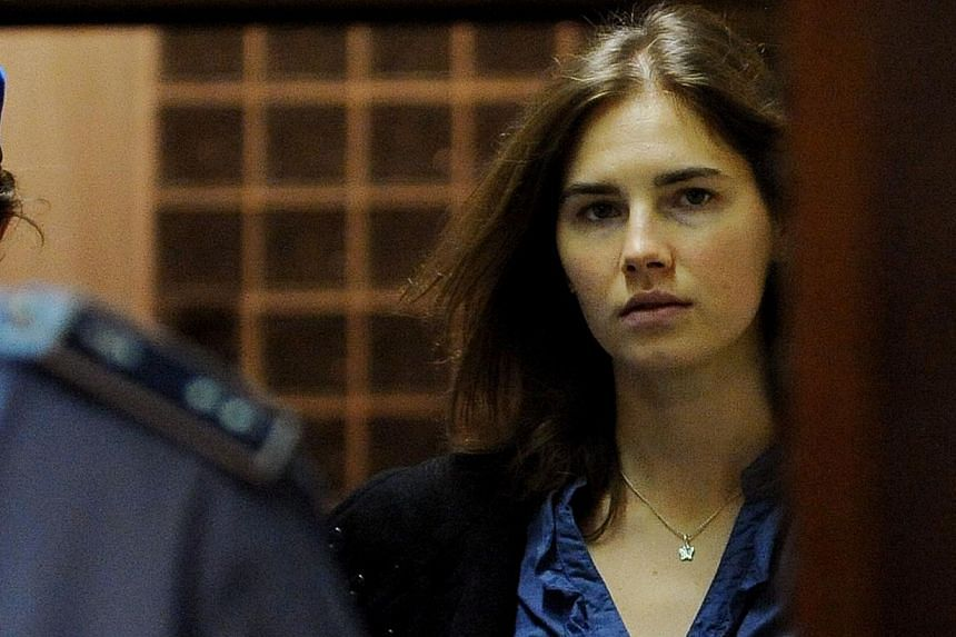 Amanda Knox, the American student who became tabloid fodder, will not be in court on Thursday to hear Italian judges give their verdict in her retrial for the murder of Briton Meredith Kercher when the two were roommates studying abroad in 2007. -- F