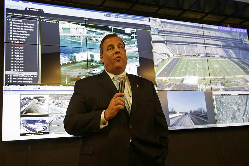 New Jersey Governer Chris Christie at the Super Bowl security operations centre in East Rutherford, New Jersey on Jan 29, 2014. Bomb attacks of the kind that tore through mass transit sites in Russia ahead of the upcoming Sochi Olympics are a top con