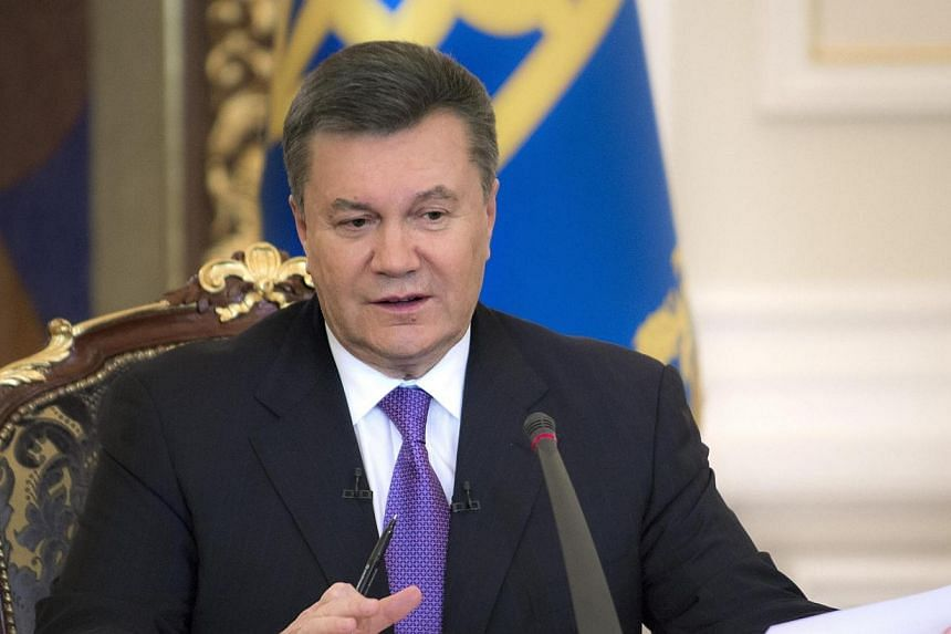 Ukraine's President Viktor Yanukovich takes part in a news conference in Kiev, on Dec 19, 2013. Ukrainian President Viktor Yanukovich has gone on sick leave with a respiratory ailment, his website said on Thursday, Jan 30, 2014, with the issue o