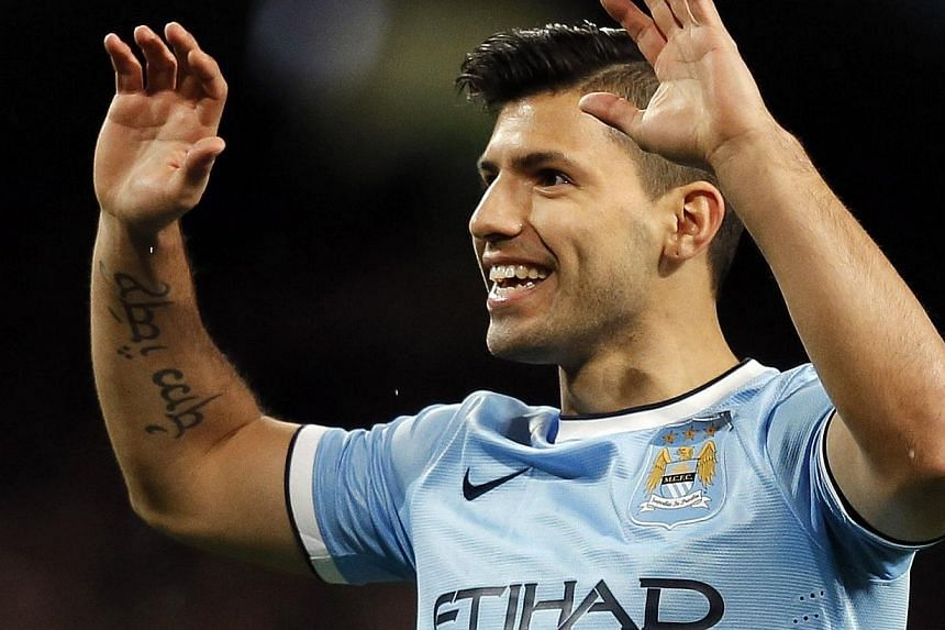 Manchester City's leading scorer Sergio Aguero is likely to be sidelined for around a month due to a hamstring injury, manager Manuel Pellegrini revealed on Friday, Jan 31, 2014. -- FILE PHOTO: REUTERS