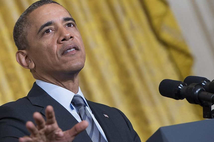 United States President Barack Obama plans to travel to Saudi Arabia in March on a mission to smooth tensions with Washington's main Arab ally over US policy on Iran's nuclear programme and the civil war in Syria, a newspaper reported. -- PHOTO: AFP
