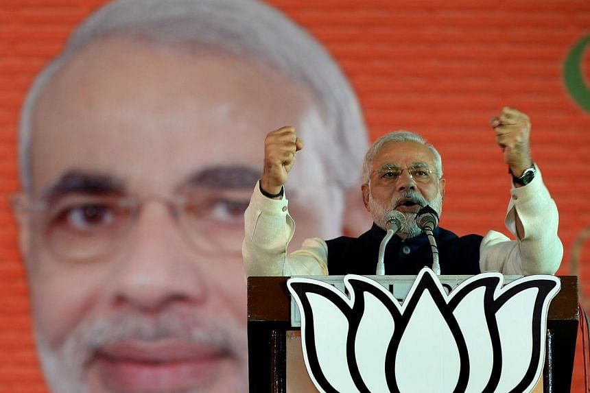"""The woman who calls herself the wife of fiery hardline Indian prime ministerial candidate Narendra Modi said in a rare interview Saturday, Feb 1. 2014, that she doesn't """"feel bad"""" he has cut her out of his life. -- FILE PHOTO: AFP"""