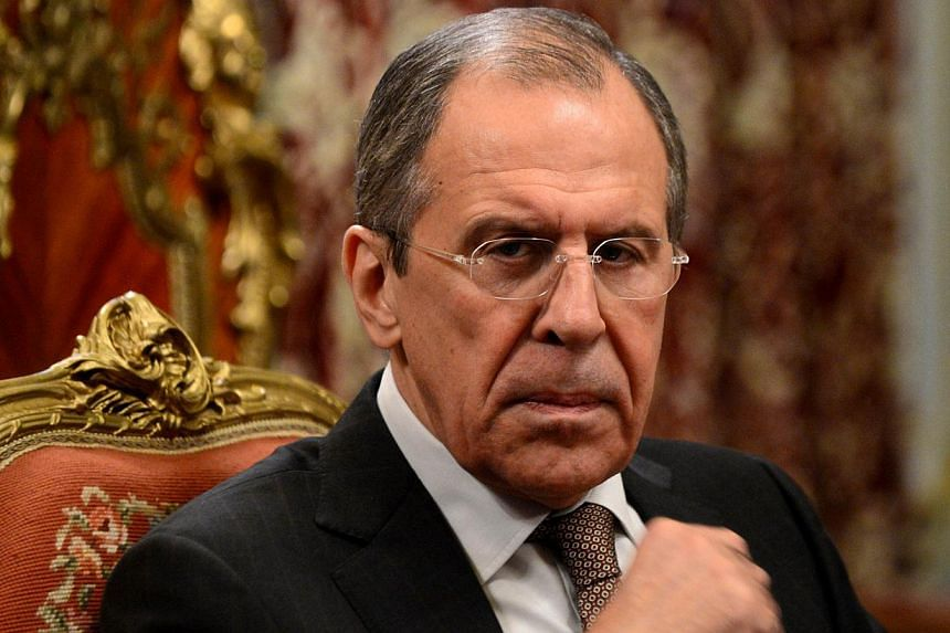 Russian Foreign Minister Sergei Lavrov rounded on the European Union Saturday, Feb 1, 2014, accusing its leaders of interfering in Ukraine's internal affairs and helping stoke violent anti-government protests.-- FILE PHOTO: AFP