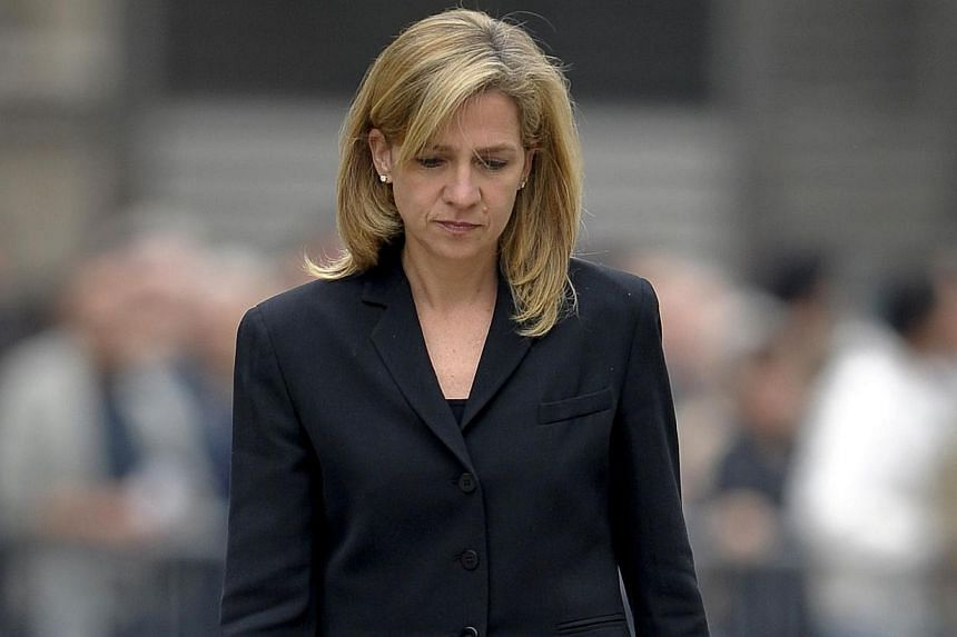 Spain's Princess Cristina arriving to attend a funeral mass for former International Olympic Committee president Juan Antonio Samaranch at Barcelona's cathedral. A Spanish judge ruled on Friday that King Juan Carlos' youngest daughter Cristina may dr