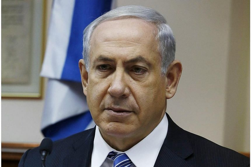 Israel's Prime Minister Benjamin Netanyahu attends the weekly cabinet meeting in Jerusalem, on Feb 2, 2014. Israeli Prime Minister Benjamin Netanyahu on Sunday, Feb 2, 2014, rejected remarks by US Secretary of State John Kerry warning of a