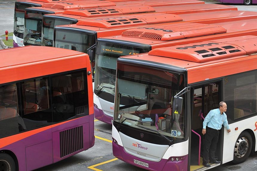 SBS Transit buses at the Toa Payoh bus interchange. Twenty-three SBS Transit bus routes will skip several bus stops from Friday Feb 7 to Sunday Feb 9 due to Chinese New Year events. -- ST FILE PHOTO: ALPHONSUS CHERN