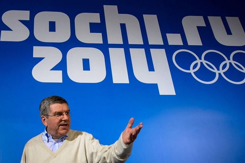 International Olympic Committee president (IOC) Thomas Bach gestures during a press conference on Monday, Feb 3, 2014 prior to the start of the 2014 Sochi Winter Olympic Games.Russia has delivered on its promises as host of the Winter Olympic G