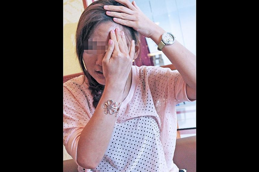 Ms Nicole Chong (above) lodged a police report, saying that her niece, Korean reality show finalist Stephanie Koh, pushed her to the floor and hit her on the first day of the Chinese New Year last Friday.