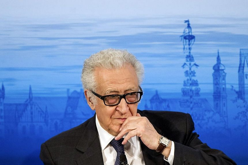 U.N. mediator Lakhdar Brahimi attends the annual Munich Security Conference on Jan 31, 2014.The deputy to the United Nations' Syria mediator Lakhdar Brahimi will leave his post this week, the UN said on Monday.-- FILE PHOTO: REUTERS