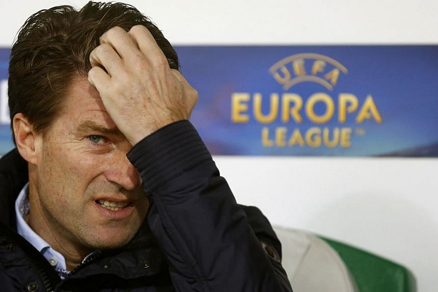 Swansea City manager Michael Laudrup gestures before their Europa League Group A soccer match against St Gallen in St Gallen on Dec 12, 2013. Swansea have sacked Laudrup with the Welsh club having dropped into a Premier League relegation battle after