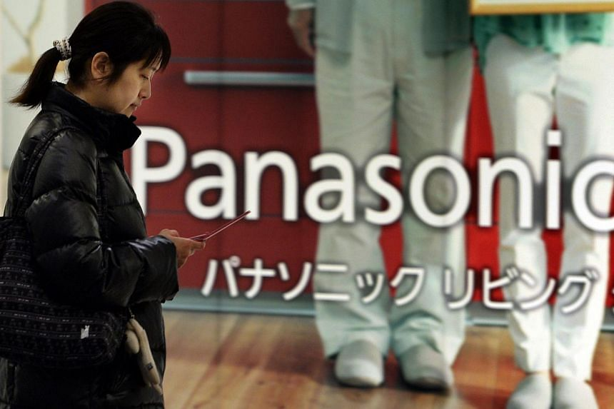 Panasonic shares rocketed 16 per cent after the struggling Japanese electronics giant said it swung into the black for the April-December period with a US$2.4 billion (S$15.7 billion) profit. -- FILE PHOTO: AFP