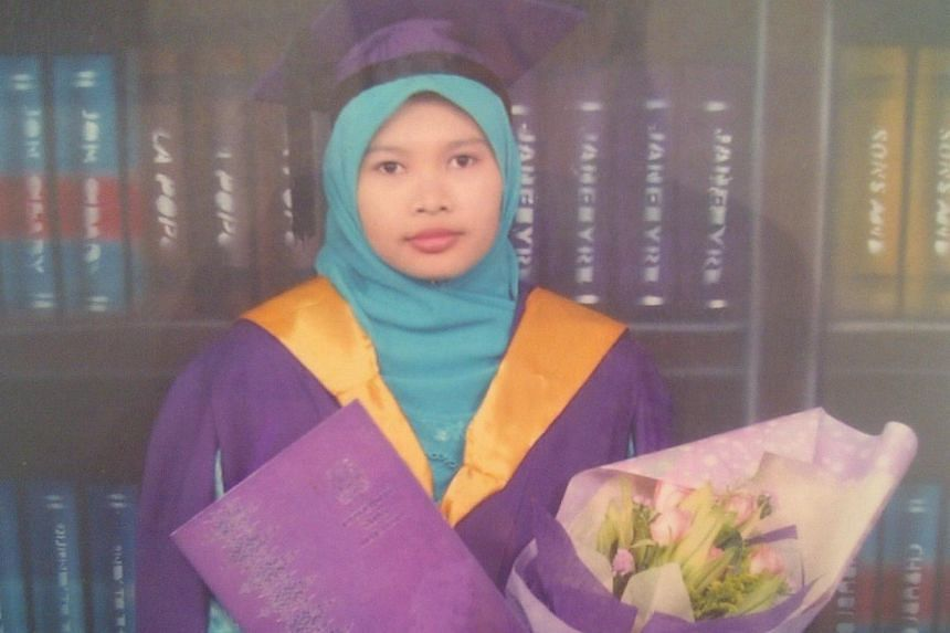 Malaysian teacher Nurul Ruhana Ishak who has been charged with criminal trespass did not show up for her first scheduled court appearance on Wednesday due to medical reasons.-- PHOTO: WANBAO