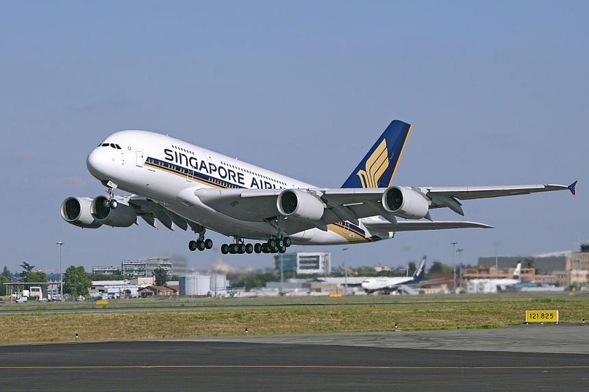 SingaporeAirlines said one of its Airbus A-380 jets is being checked by engineers at Changi Airport after it was grounded in Germany due to scratches on the plane's body. -- FILE PHOTO: SIA