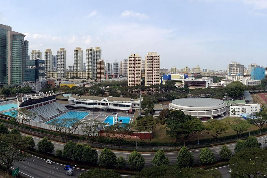 Panoramic photo of, from left, Toa Payoh Swimming Complex, Sports Hall and Stadium on 5 Feb 2014.Several government agencies are looking at how Toa Payoh's park, library and stadium can be brought together in a new way that will improve residen