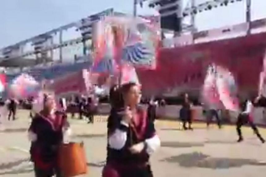 Prime Minister Lee Hsien Loong and President Tony Tan Keng Yam will join some 8,000 performers in the Chingay Parade's finale 'Knit with One Heart' on Friday and Saturday respectively. -- PHOTO: SCREENGRAB FROM VIDEO