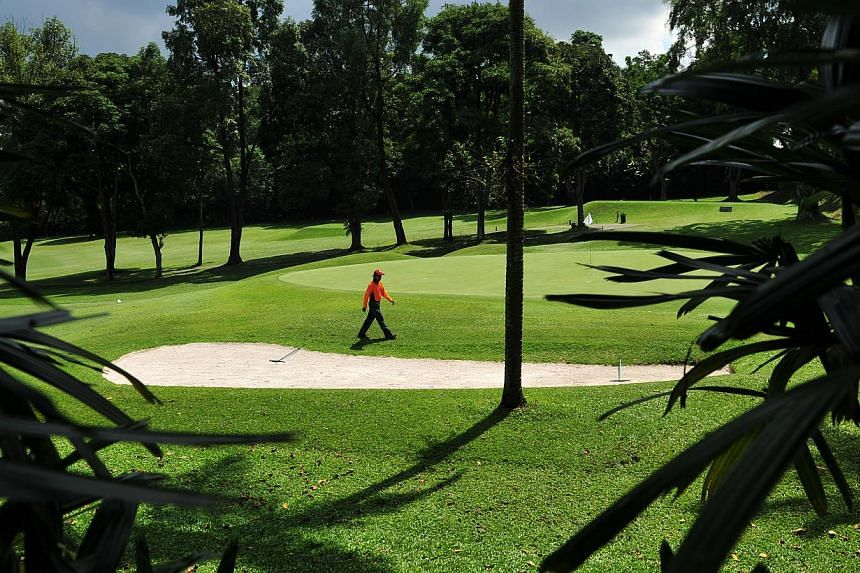 The Singapore Island Country Club (SICC) Bukit course. Golf clubs here with 10 years or less left on their leases look set to find out on Feb 16 if these will be renewed and for how long. -- ST FILE PHOTO: ALPHONSUS CHERN