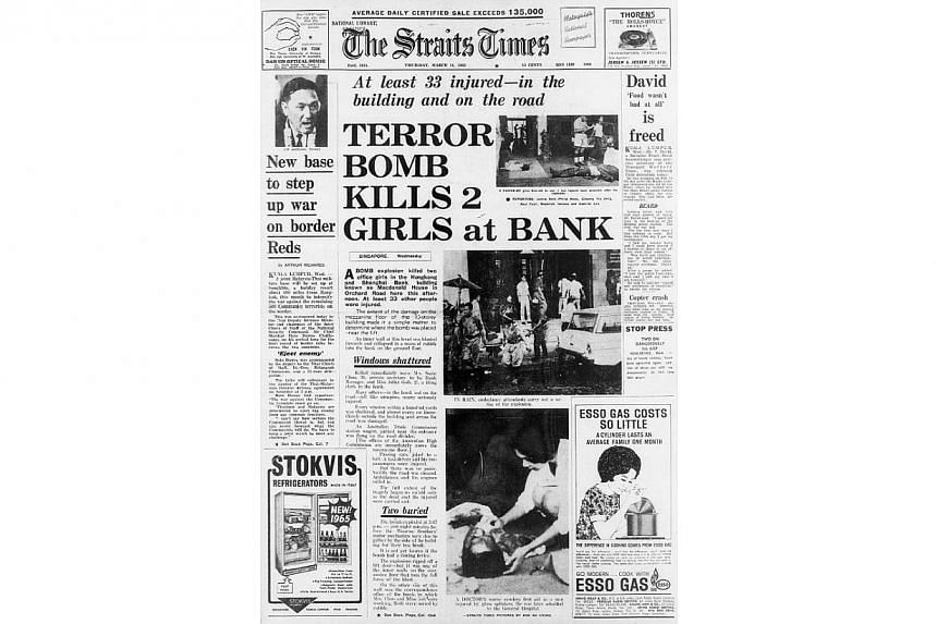 The front page of The Straits Times on March 11, 1965. -- ST PHOTO