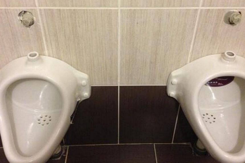 Athletes and journalists at the Sochi 2014 Winter Olympics have taken to Twitter to share hilarious pictures from venues in the Russian city. -- PHOTO: TWITTER OF DAVE SHEININ