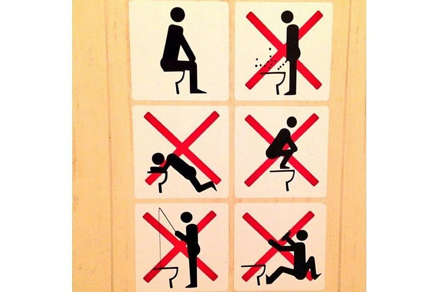 A tweet from Canadian snowboarderSebastien Toutant, showing that fishing isn't allowed in a Sochi toilet bowl, among other things, has been retweeted more than 4,000 times and been favourited more than 1,300 times since Feb 1.-- PHOTO: TW