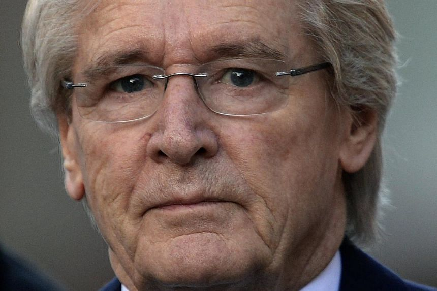 British television actor William Roache,who plays the character of Ken Barlow in the soap opera Coronation Street, arrives at Preston Crown Court in Preston, northern England on Thursday, Feb 6, 2014.Roache, the world's longest-serving so