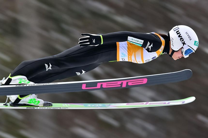 Sara Takanashi of Japan soars through the air during the Ladies FIS Ski Jumping World Cup in Planica, on Jan 26, 2014. Sara Takanashi may be considered the overwhelming favourite for Olympic women's ski jump gold, but her former Japanese compatriot A