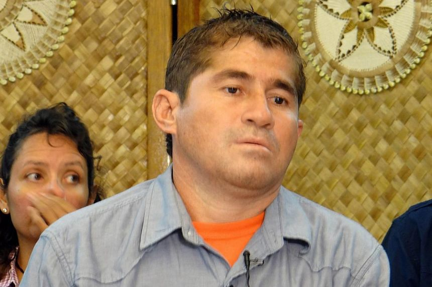 Pacific castaway Jose Salvador Alvarenga was ordered to rest on Friday, Feb 7, 2014, after being hospitalised with a health scare, as a senior diplomat said all evidence so far verified his amazing story. -- PHOTO: AFP