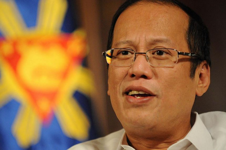 In this file photo taken on March 20, 2012, Philippine President Benigno Aquino speaks during an interview with AFP at the Malacanang Palace in Manila. Mr Aquino has warned China's efforts to claim disputed territories are like Nazi Germany's before