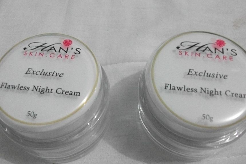 Some Han's Skin Care cosmetic products have been found to contain potentially harmful, undeclared ingredients, said the Health Sciences Authority (HSA) in a press release on Friday. -- PHOTO: HSA