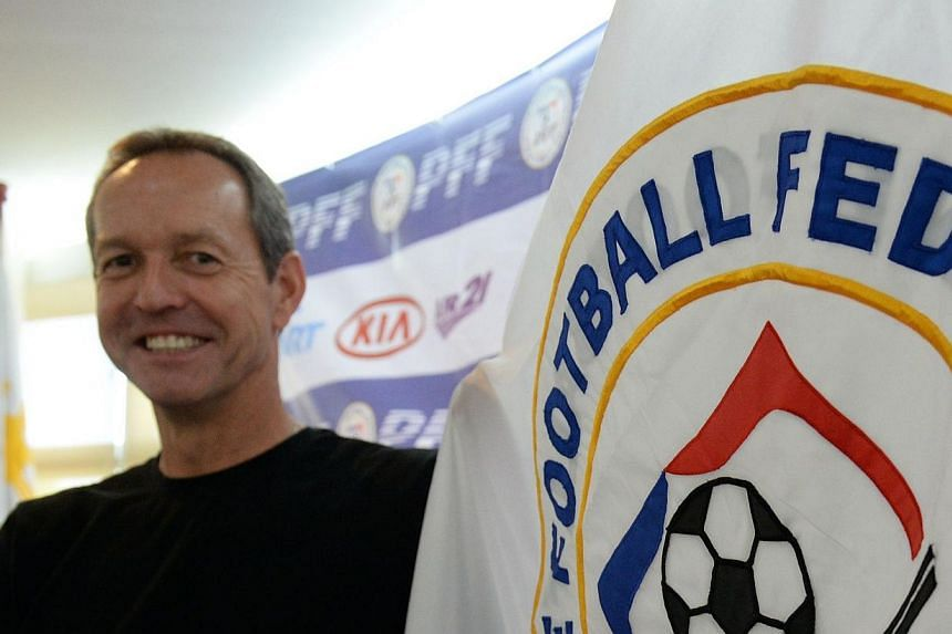 Former US skipper Thomas Dooley'simmediate task as newhead coach of the Philippines' national teamis winning the Asian Football Confederation (AFC) Challenge Cup in the Maldives in May.-- PHOTO: AFP