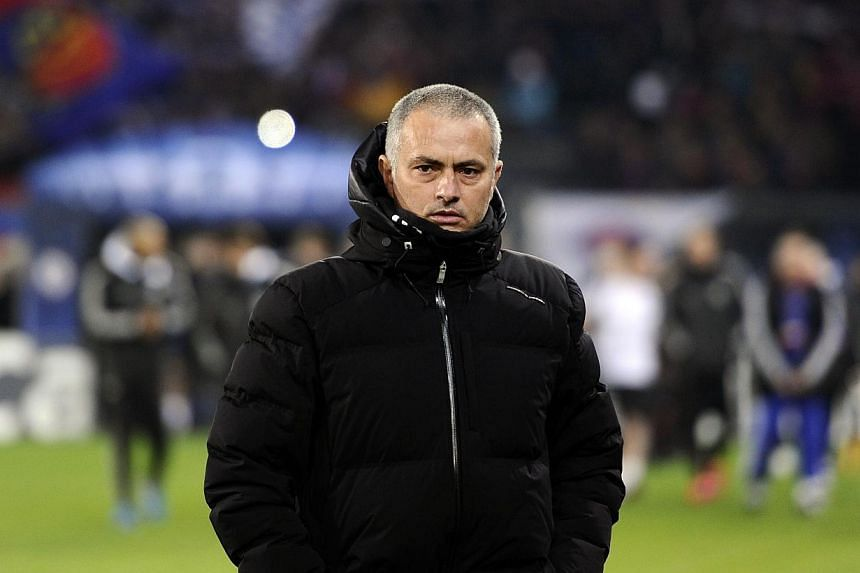 Chelsea manager Jose Mourinho during a Uefa Champions League match against FC Basel on Nov 26, 2013. Mourinho has confessed that not everything he says in the English Premier League title run-in will be the truth. -- FILE PHOTO: AFP